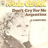 Cover Petula Clark - Don't Cry For Me Argentina