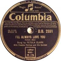 Cover Petula Clark - I'll Always Love You