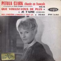 Cover Petula Clark - Que voulez-vous de plus