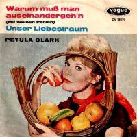 Cover Petula Clark - Warum muß man auseinandergeh'n (Mit weißen Perlen)