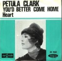 Cover Petula Clark - You'd Better Come Home