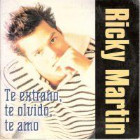 Cover Ricky Martin - Te extraño, te olvido, te amo