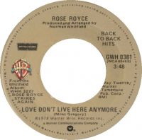 Cover Rose Royce - Love Don't Live Here Anymore