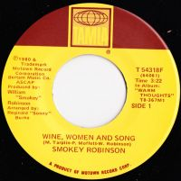 Cover Smokey Robinson - Wine, Women And Song