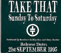 Cover Take That - Sunday To Saturday