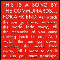 Cover The Communards - For A Friend