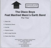 Cover The Disco Boys feat. Manfred Mann's Earth Band - For You