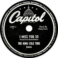 Cover The King Cole Trio - I Miss You So