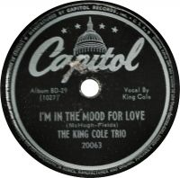 Cover The King Cole Trio - I'm In The Mood For Love