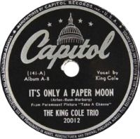 Cover The King Cole Trio - It's Only A Paper Moon