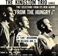 Cover The Kingston Trio - The Merry Minuet