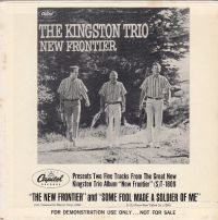 Cover The Kingston Trio - The New Frontier