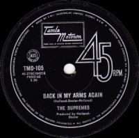 Cover The Supremes - Back In My Arms Again