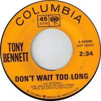 Cover Tony Bennett - Don't Wait Too Long