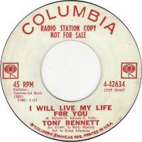 Cover Tony Bennett - I Will Live My Life For You
