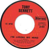 Cover Tony Bennett - I'm Losing My Mind