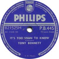 Cover Tony Bennett - It's Too Soon To Know