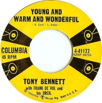 Cover Tony Bennett with Frank De Vol And His Orchestra - Young And Warm And Wonderful