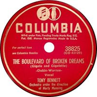 Cover Tony Bennett with Marty Manning And His Orchestra - The Boulevard Of Broken Dreams (Gigolo And Gigolette)