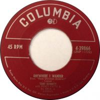 Cover Tony Bennett with Percy Faith And His Orchestra - Anywhere I Wander