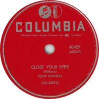Cover Tony Bennett with Percy Faith And His Orchestra - Close Your Eyes
