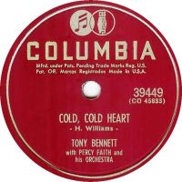 Cover Tony Bennett with Percy Faith And His Orchestra - Cold, Cold Heart