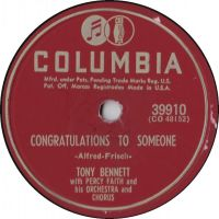 Cover Tony Bennett with Percy Faith And His Orchestra - Congratulations To Someone