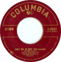 Cover Tony Bennett with Percy Faith And His Orchestra - Don't Tell Me Why (Pitie Senorita)