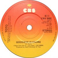 Cover Toto - Goodbye Elenore