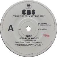 Cover Toto - Live For Today