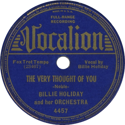 Ultratopbe Billie Holiday The Very Thought Of You